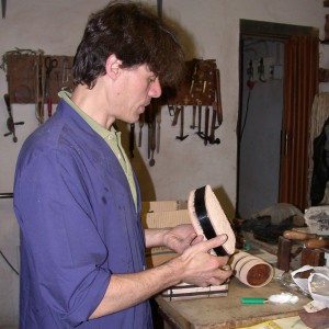Simone Taddei in his workshop