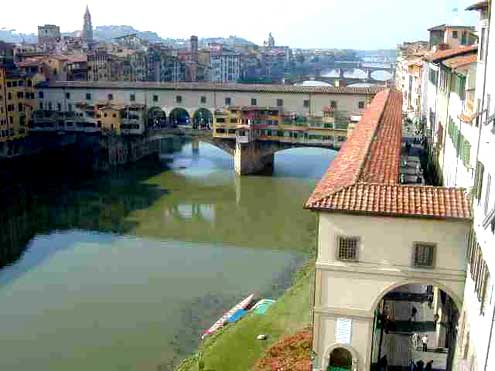 Corridor Crossing the Ponte Vecchio