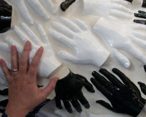 Pillar of Ceramic Hands
