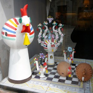 Painted clay traditional figurines