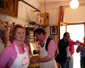 Kim in the Macellaria Cecchini
