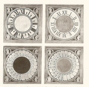 Four Versions of the Duomo Clock
