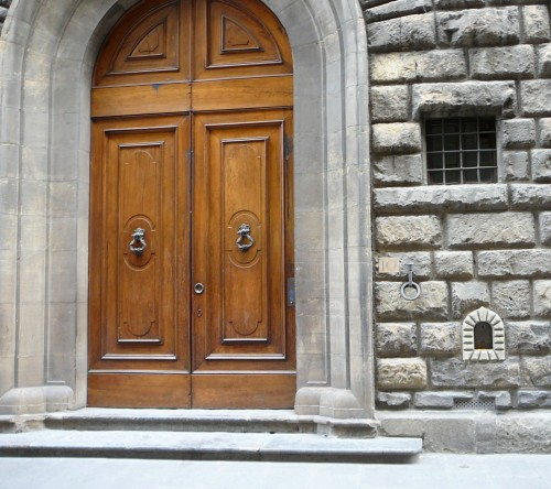 Entry Door and Wine Portal of Palazzo Pazzi