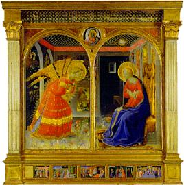 Annunciation by Fra Angelico saved by Siviero