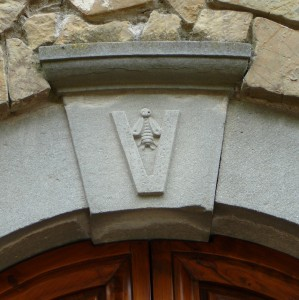 Vespucci Coat of Arms in the Key Stone