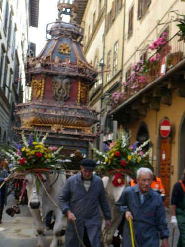 The Carro On Its Way to the Cathedral