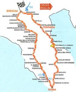 Mille Miglia 2009 Route