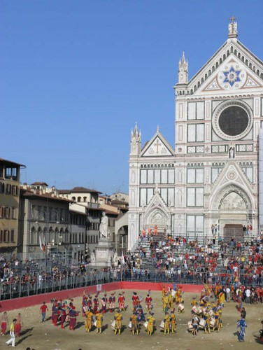Played on Sand in front of Santa Croce