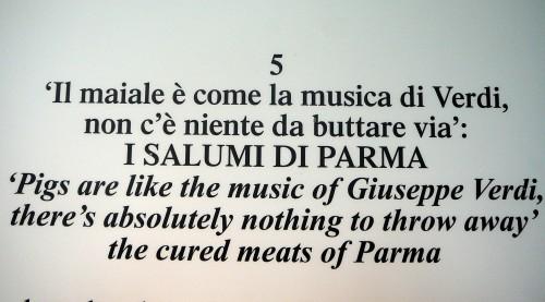 Popular Saying Celebrating Prosciutto del Parma