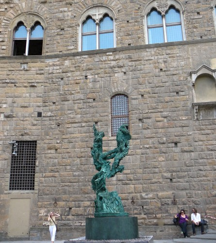 Two Rivers outside the Palazzo Vecchio
