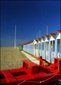 Changing cabins for rent at the beach