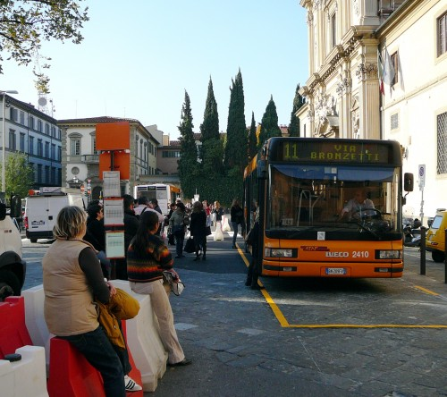 Temporary bus stop in Piazza San Marco