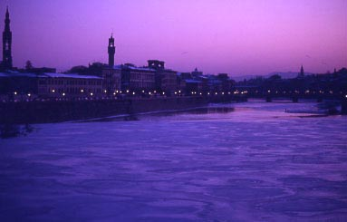January 10, 1985 the Arno froze