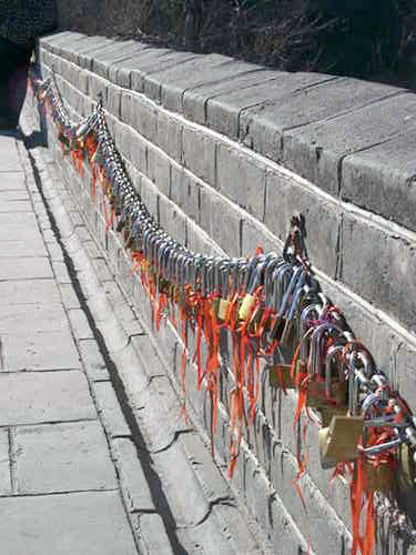 Lovers' Locks along the Great Wall of China