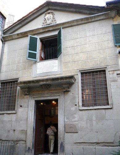Facade of San Piero Ciel D'oro - Inside the Capitolo Library