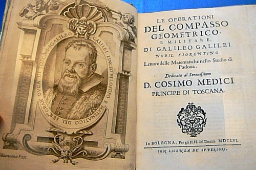 Galileo writes the handbook for his calculating compass