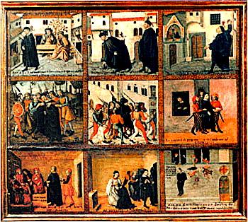 Story of Antonio Rinaldeschi (tempra on wood)