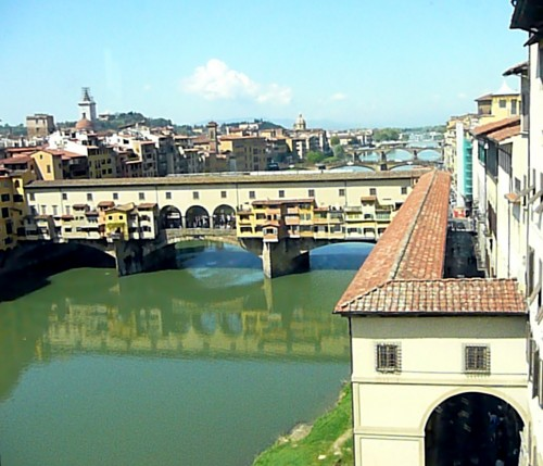 Vasari Corridor seen from the Uffizi Gallery