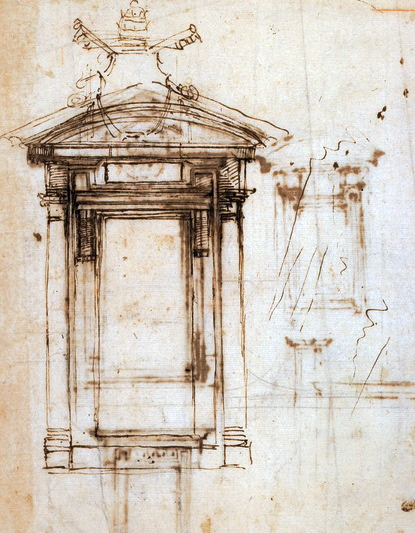 Sketch of Doorway into Library