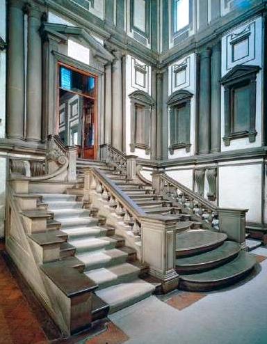Stairway designed by Michelangelo