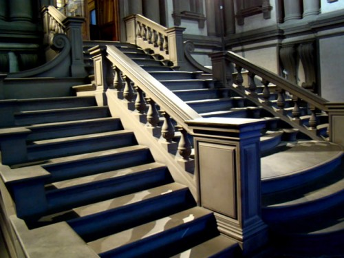 Stairway in the Vestibule of the Laurentian Library