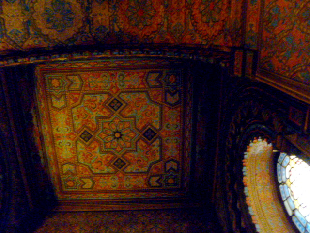 Detail of the ceiling below one of the small domes