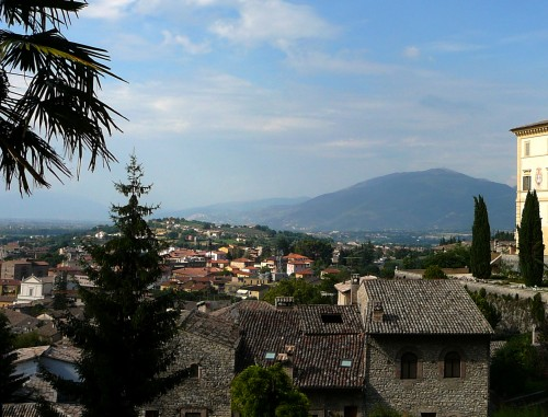 Overlooking Spoleto - an Umbrian hill town