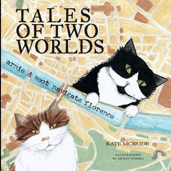 Arnie and Soot grace the cover of Kate McBide's book