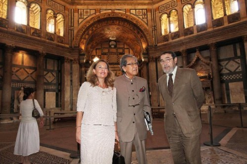 In 2010 Mr. Motoyama tours the inside of the Baptistery