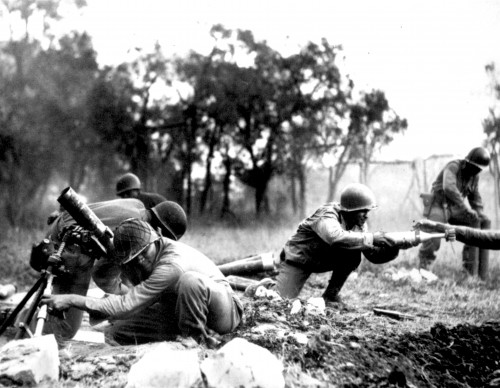 American soldiers in battle Lucca (November 1944)