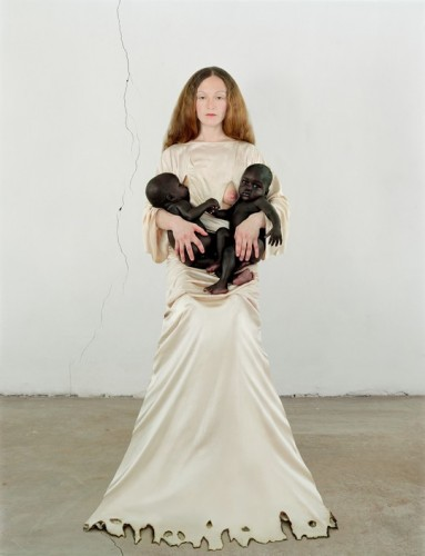 Self-portrait of Vanessa Beecroft and her adopted babies (2006)