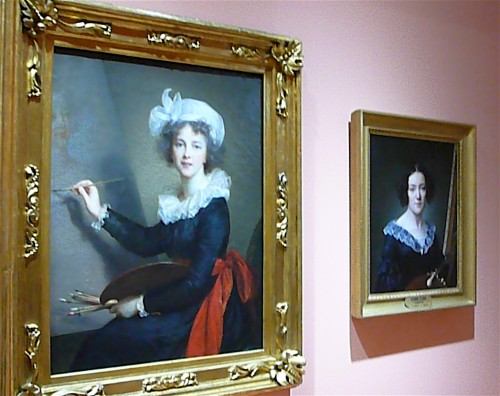 "1790 ""mirror"" self-portrait by Elisabeth Louise Vigee-LeBrun"