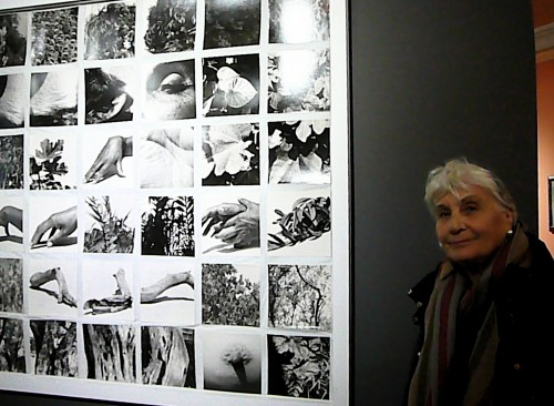 Elisa Montessori (Genova) with her self-portrait photo collage (1977)