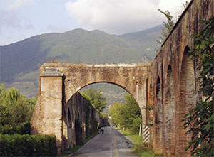 Portions of the Medici Aqueduct cross the countryside north of Pisa