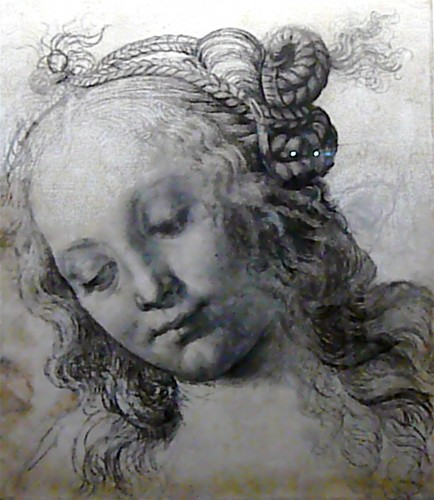 Not Leonardo, but his teacher Verrocchio, sketched in 1475