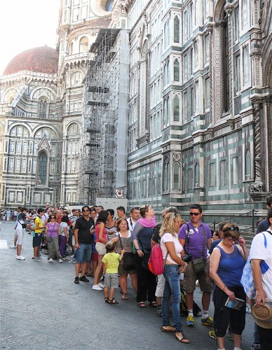 408 in line for the Duomo at 10am on August 24