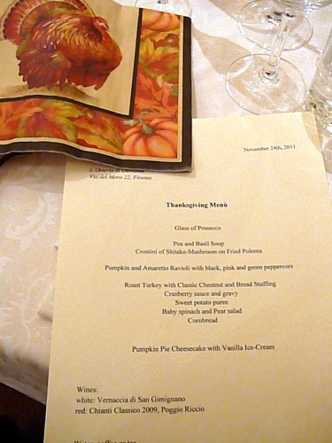 American Thanksgiving at Osteria di Giovanni