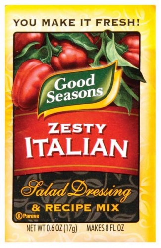 Zesty dry Italian salad dressing flakes