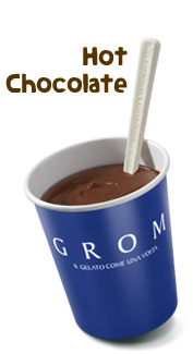Grom offers three flavors of hot chocolate