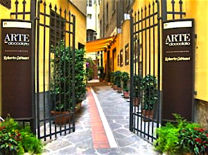 The beautiful entrance to Catinari's Arte del Cioccolato