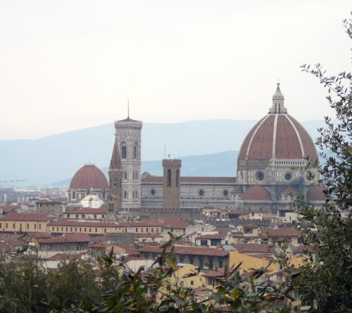 Some of the best views of classic Florence are from the rose garden