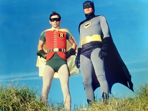 Batman & Robin flaunted their tights