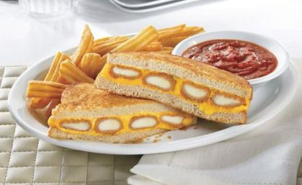 Hard to imagine but the lunch of choice in a combo of fish sticks and cheese