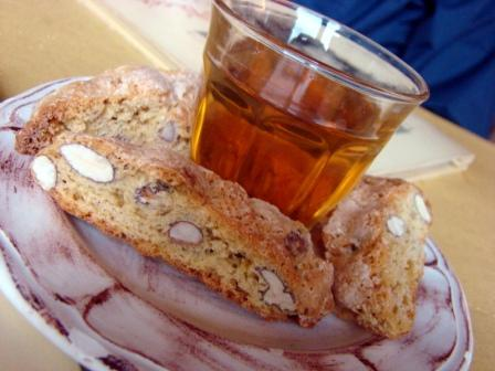 The perfect glass of Vin Santo for dipping biscotti