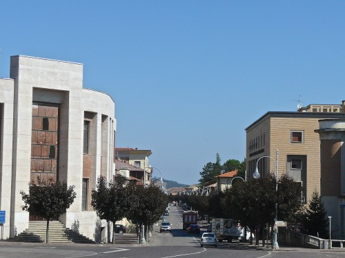 The smallest town with the biggest fascist-inspired buildings