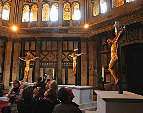 Crucifixes from 1412, 1415, and 1492 are together for the first time