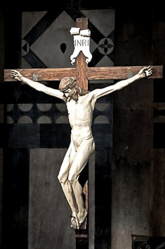 Brunellschi's Crucifix from the Gondi Chapel of Santa maria Novella (1415)