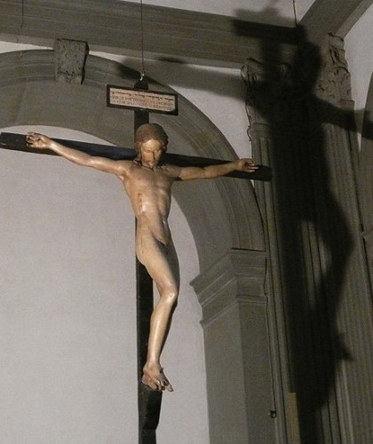 Michelangelo's Crucifix from Santo Spirito (1492)