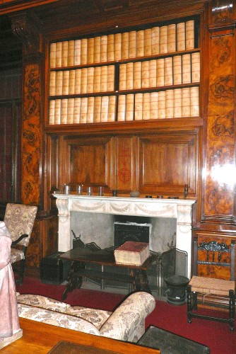 Fireplace in Professor Putti's office