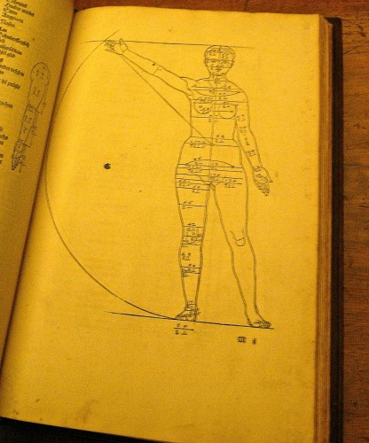 Book of anatomical woodcut prints by Albrecht Drer (1528)